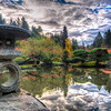A colorful fall day at the Seattle Japanese Gardens